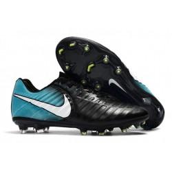 Nike Tiempo Legend VII FG - Chaussures de Football pour Hommes Noir Bleu Blanc