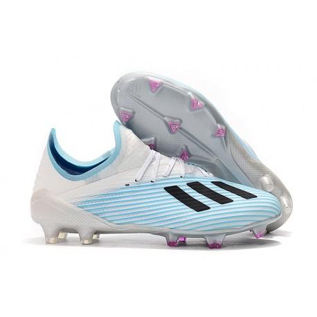 adidas X 19.1 FG Chaussure de Foot Neuf Blanc Bleu Noir