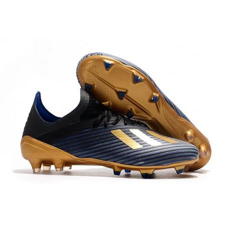 adidas X 19.1 FG Chaussure de Foot Neuf Bleu Noir Or