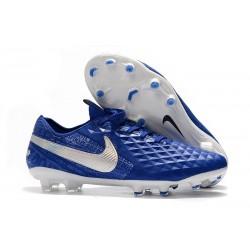 Crampons Neuf Nike Tiempo Legend VIII Elite FG Bleu Blanc