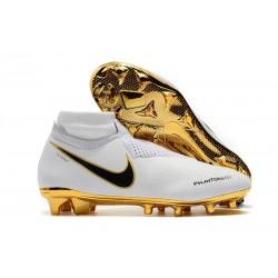 Nouvelles Chaussures de Football Nike Phantom VSN Elite DF FG Blanc Or