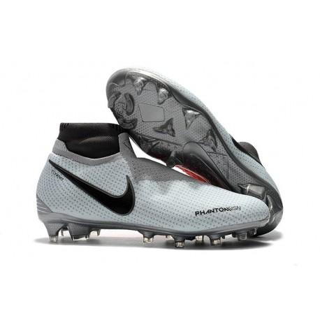 Nouvelles Chaussures de Football Nike Phantom VSN Elite DF FG Gris Rouge