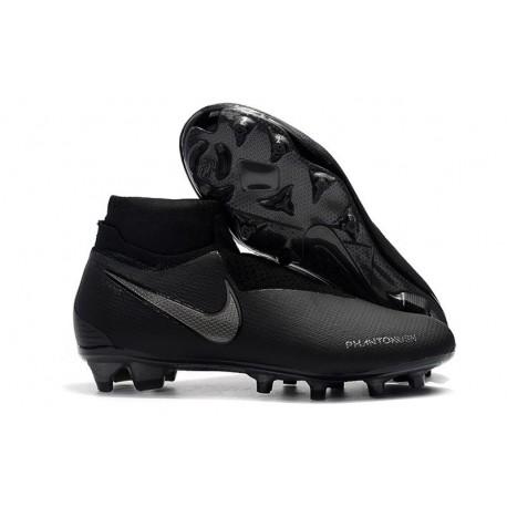 Nouvelles Chaussures de Football Nike Phantom VSN Elite DF FG Tout Noir
