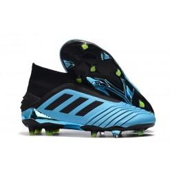 adidas Predator 19+ FG Crampon Foot Bleu Noir