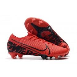 Chaussures Nike Mercurial Vapor 13 Elite FG Rouge Noir