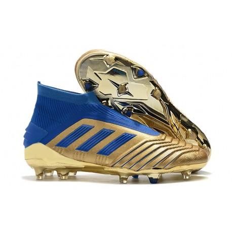Chaussure Nouveaux adidas Predator 19+ FG Oro Bleu