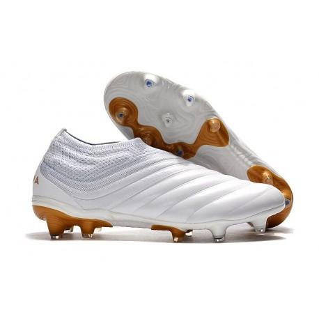 Neuf Crampons De Football Adidas Copa 19+ FG Blanc Or