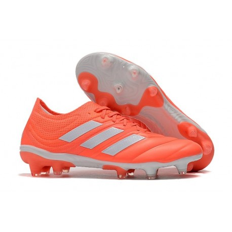Nouvelles Crampons Football Adidas Copa 19.1 FG Rouge Blanc