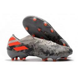 Chaussures de Foot adidas Nemeziz 19.1 FG Gris/Orange solaire/Craie