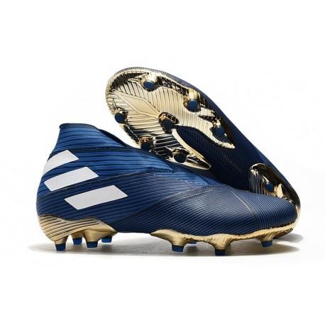 adidas Nemeziz 19+ FG Chaussures Foot - Bleu Blanc Noir