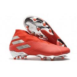 adidas Nemeziz 19+ FG Chaussures Foot - Rouge Argent