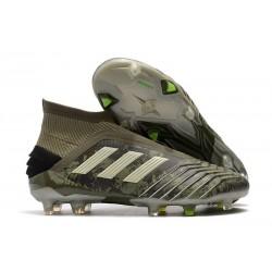 Chaussure Nouveaux adidas Predator 19+ FG Héritage Vert Sable