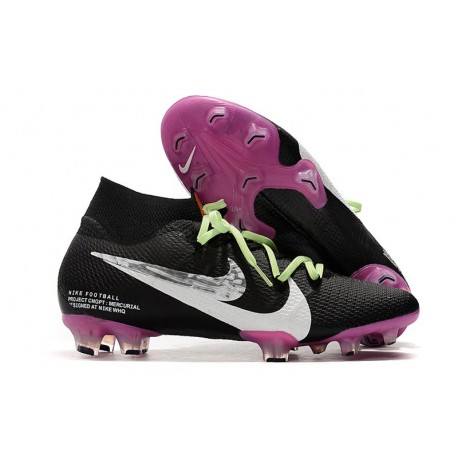 Nike Crampons Football Mercurial Superfly 7 Elite SE FG Noir Violet Blanc