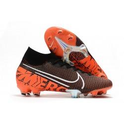 Nike Crampons Football Mercurial Superfly 7 Elite SE FG Noir Blanc Cramoisi