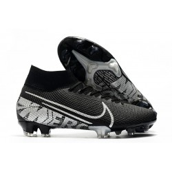 Nike Crampons Football Mercurial Superfly 7 Elite SE FG Noir Gris Métallique