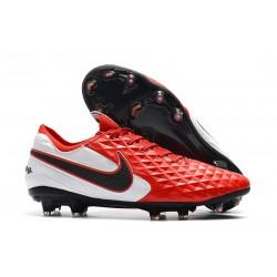 Crampons Neuf Nike Tiempo Legend VIII Elite FG Rouge Blanc