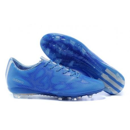 2015 Chaussure de Foot F50 Messi Adizero Trx FG Bleu Blanc