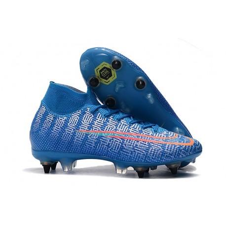 Nike Mercurial Superfly 7 Elite SG-Pro AC Bleu Rouge