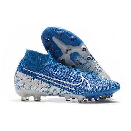 Nike Mercurial Superfly VII Elite AG-PRO New Lights Bleu Blanc