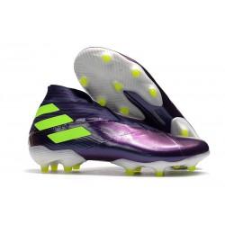 Crampons de Football adidas Nemeziz 19+ FG Viola Jaune