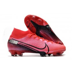 Nike Crampons Football Mercurial Superfly 7 Elite SE FG Cramoisi Noir