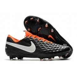 Crampons Neuf Nike Tiempo Legend VIII Elite FG Noir Blanc Orange