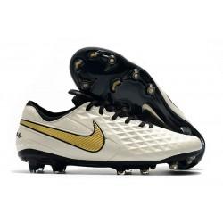 Crampons Neuf Nike Tiempo Legend VIII Elite FG Blanc Or