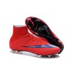 Chaussures Pas Cher Nike Mercurial Superfly FG - Rouge Vif Violet Persan Noir