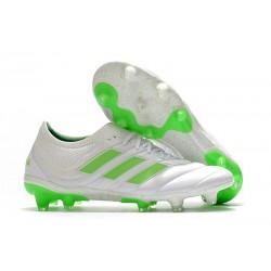 Nouvelles Crampons Football Adidas Copa 19.1 FG Blanc Vert