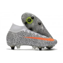 Nike Mercurial Superfly 7 Elite SG-Pro AC CR7 Safari-Blanc Orange Noir