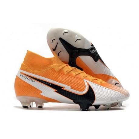 Nike Mercurial Superfly VII Elite DF FG Orange Laser Noir Blanc