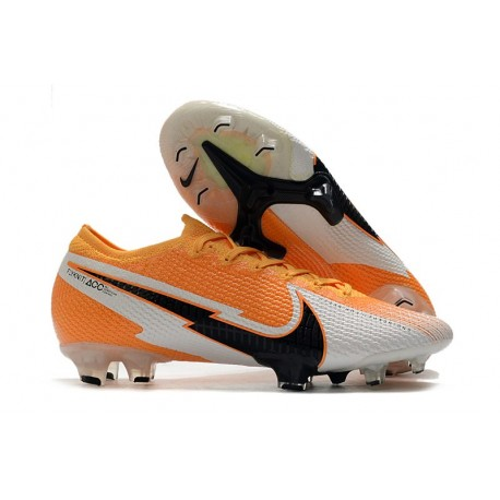 Chaussures Nike Mercurial Vapor XIII Elite FG Orange Laser Noir Blanc