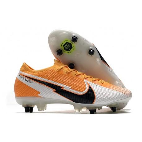 Nike Mercurial Vapor 13 Elite SG-Pro AC Orange Laser Noir Blanc