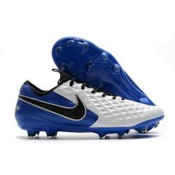 Nike Tiempo Legend 8 Elite FG ACC Blanc Bleu Noir