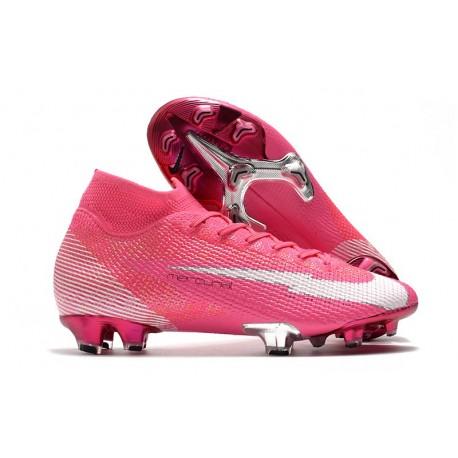Nike Nouvel Mercurial Superfly 7 Elite FG ACC x Mbappe Rose Blanc Noir