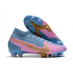 Nike Nouvel Mercurial Superfly 7 Elite FG ACC Bleu Rose Or