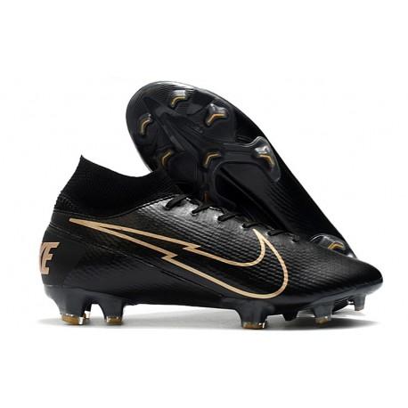 Nike Nouvel Mercurial Superfly 7 Elite FG ACC Noir Or