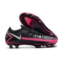 Nouvelle chaussure de football Phantom GT Elite FG Noir Argent Rose