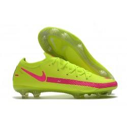 Nouvelle chaussure de football Phantom GT Elite FG Vert Rose