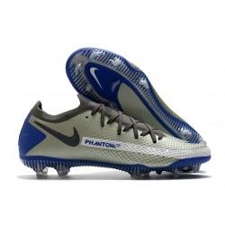 Nouvelle chaussure de football Phantom GT Elite FG Gris Noir Bleu