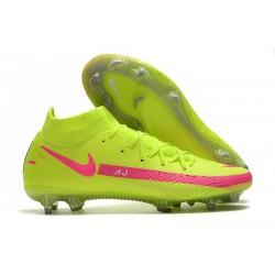 Nike Phantom GT Elite DF DF FG Crampons Vert Rose