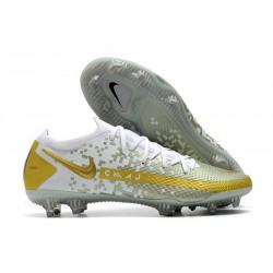 Nouvelle chaussure de football Phantom GT Elite FG Blanc Or