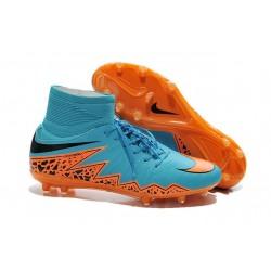 Hommes Chaussures Nike HyperVenom Phantom 2 FG Orange Noir Bleu