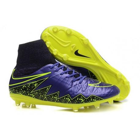 Nouveau Cramons Nike HyperVenom Phantom 2 FG Violet Noir Jaune