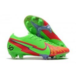 Nike Nouveaux Mercurial Vapor 13 Elite FG Vert Rouge
