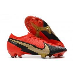 Nike Nouveaux Mercurial Vapor 13 Elite FG Rouge Or Noir