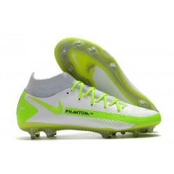 Nike Phantom GT Elite DF DF FG Crampons Blanc Vert