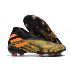 Crampons de Football adidas Nemeziz 19+ FG Vert Orange Noir