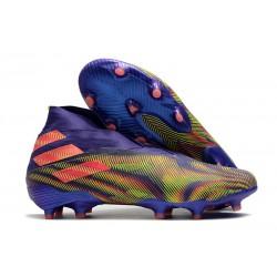 Crampons de Football adidas Nemeziz 19+ FG Vert Violet Rose