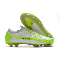 Nike Nouvel Crampons 2021 Phantom GT Elite FG Blanc Vert